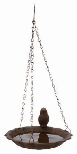 Трикси Миска подвесная для птиц, чугун, 250 мл/ф 16 см, коричневый, арт. 55502