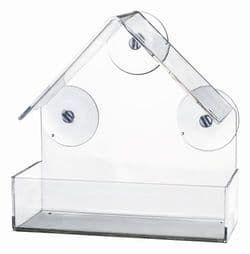 Trixie Оконная кормушка для птиц, 225 мл/15 x 15 x 6 см, прозрачный. арт. 55610