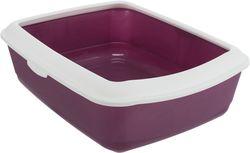 Трикси Туалет Classic с бортиком, 37х15х47 см, ягодный/белый, арт.40183