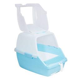 Триол Туалет P910 для кошек закрытый с выдвижным поддоном (совок и сетка в комплекте), 550*400*420мм
