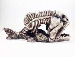 """Грот """"Декси"""" - Скелет рыбы №904 (40х15х18)"""