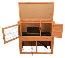 ТРИКСИ Клетка для мелких животных Natura, 2 этажа, 104х97х52 см, коричневый, арт.62301