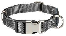 Трикси Ошейник Premium с комбинированной застёжкой, L–XL: 45–70 см/25 мм, графит, арт.202616