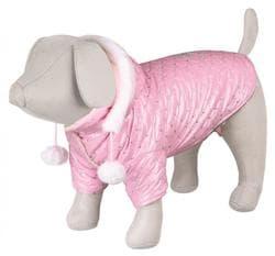 Попона для собак зимняя Dog Princess, XS: 27 см, розовый