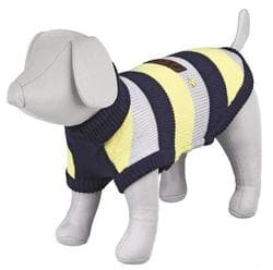 "Пуловер для собак ""Adamello"", М: 45 см, синий / серый / желтый"