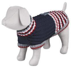 """Пуловер для собак """"Pinerolo"""", S: 33 см, синий / красный / белый"""