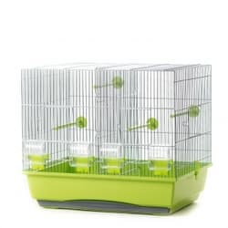 P243 Клетка InterZoo для птиц MESSI OC. на две семьи с разд. 540х380х470