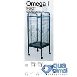 P201 Клетка InterZoo для птиц OMEGA I (2мм) 560X560X1460