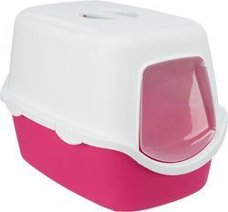 Trixie Туалет для кошек Vico, 40×40×56 cм, арт.40277-розовый/белый