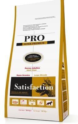 Корм для собак крупных пород SATISFAСTION (PRO) REGULAR MAXI 20 KG (Испания) Суперпремиум на мясе курицы