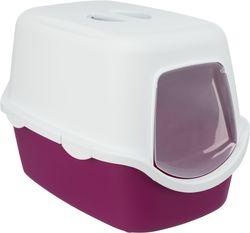 Trixie Туалет для кошек Vico, 40×40×56 cм, арт.40278-ягодный/белый