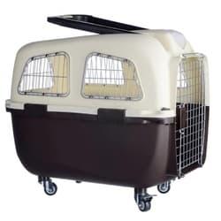 KREDO Переноска пластиковая для собак на колесах с ручкой 70х48х61 см 92