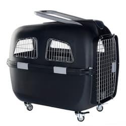 KREDO Переноска пластиковая для собак на колесах с ручкой 78х53х72 см 93