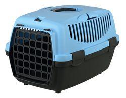 Trixie Переноска для собак Capri 1, XS 32х31х48 см, артикул 39812 тёмно-серый/светло-синий