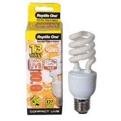 Лампа Reptile для террариума One Lamp Compact 5.0, для рептилий и амфибий, Е27, 13W, 5% UVB