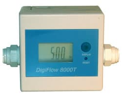 Измеритель потока воды, Digiflow 8000T, электронный, цифровой для обратного осмоса