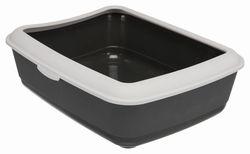 Trixie Туалет для кошек Classic с бортиком, 37х15х47 см, арт.40312-темно-серый