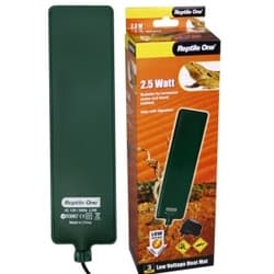 Греющая подушка для террариума Reptile One Low Voltage Heat Mat 6х24 см, с встроенным термостатом (2,5W)