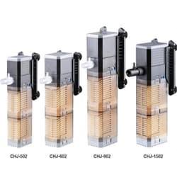 Фильтр внутренний с регулятором потока, 7W (500л/ч,акв. до 120л) 2 картриджа губка SS-CHJ-502