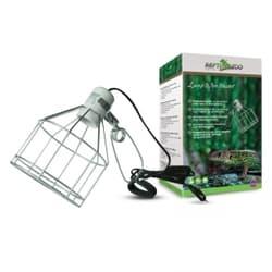 Светильник для террариума на зажиме 07RL, металлическая cетка, 150Вт, 132мм