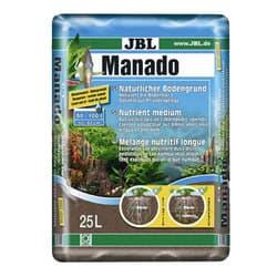 JBL Manado 10l - Питательный грунт для аквариумных растений , улучшающий качество воды и стимулирующий рост растений, красно-коричневый (цвет латеритной почвы), 10 литров.