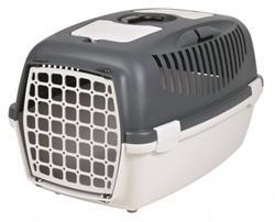 Trixie Переноска для собак Capri 3, S 40х38х61 см, артикул 39831 светло-серый/темно-серый