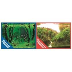 Фон двухсторонний с одной самоклеящейся стороной Коряги с растениями/Растительные холмы 30x60см 9084/9085