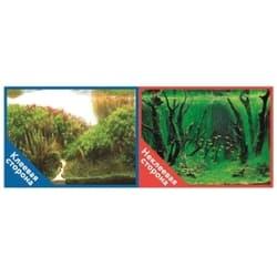 Фон двухсторонний с одной самоклеящейся стороной Коряги с растениями/Растительные холмы 50x100см 9084/9085