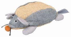 Трикси Мышь 30 см, сизаль/ткань, натуральный/серый, арт.45599