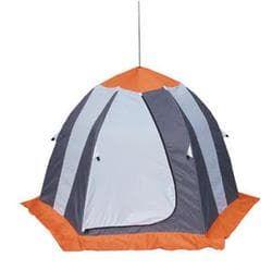 Палатка рыбака Нельма 3 (автомат)св.серый/оранжевый