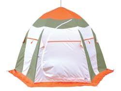 Палатка рыбака Нельма 3 Люкс (автомат)хаки/оранжевый