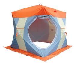 Палатка рыбака Нельма Куб-2 Люкс (двухслойная)