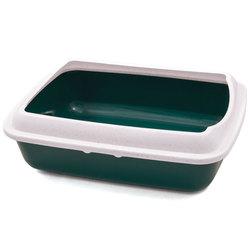 Триол Туалет CT04 для кошек прямоугольный с бортом, цвет в ассортименте, 505*390*150мм