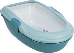 Trixie Туалет для кошки Berto, 39х22х59 см, светлосиний/петроль арт.40156