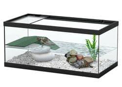 TORTUM 40 Аквариум для черепах, 400х200х180, черный (001), отдельно светильник арт.10073 (нет в наличии)
