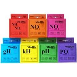VladOx профессиональный набор из 7-ми тестов (gH, kH, pH, NO2, NO3, NH3/4, PO4)
