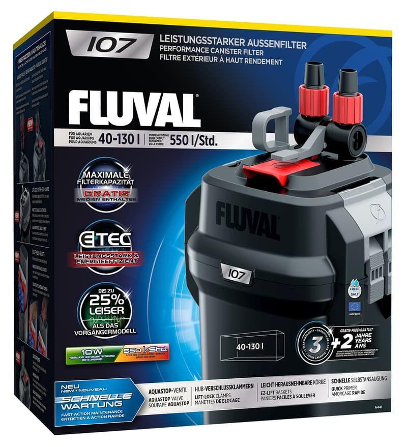 Фильтр внешний FLUVAL 107, 550-360л/ч от 40 до 130л