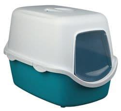 Trixie Туалет для кошек Vico, 40×40×56 cм, арт.40275-аквамарин