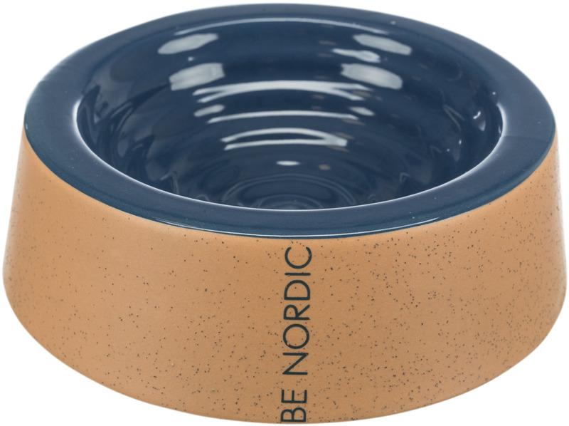 Трикси Миска BE NORDIC, керамика, 0.8 л/25 см, темно синий/бежевый, арт.24302