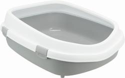 Трикси Туалет для кошки Primo XXL с ободком, 56х25х71 см, серый/белый, арт.40174