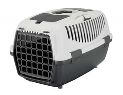 Trixie Переноска для собак Capri 2, XS 37х34х55 см, артикул 39821 светло-серый/темно-серый