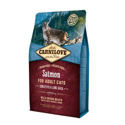 Carnilove 2кг Salmon for Adult Cats Sensitive & Long Hair д/взросл.кошек, Лосось 512287