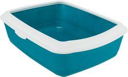 Трикси Туалет Classic с бортиком, 37х15х47 см, петроль/белый, арт.40180