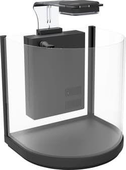 Аквариум дуговой Atman BGT-30 черный, 16 литров, 30,4х23х29см (в комплекте внутренний фильтр, LED светильник)