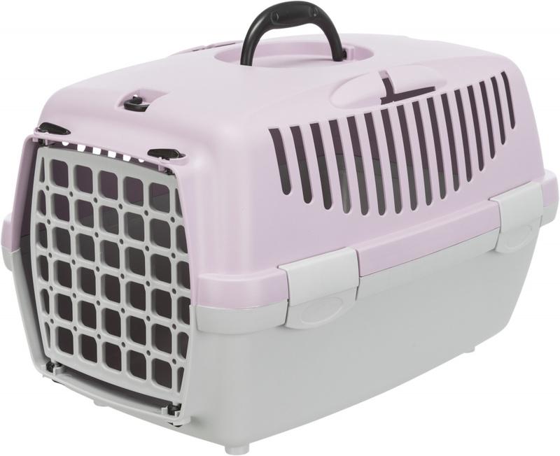 Trixie Переноска для собак Capri 1, XS 32х31х48 см, артикул 39813 светло-серый/светло-сиреневый