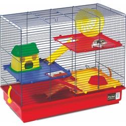 PetInn  Клетка д/грызунов  ASTRO 4 (Колесо+миска+домик+3 лесенки+3 полочки) 57х30х46