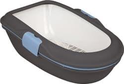 Trixie Туалет для кошки Berto, 39 × 22 × 59 см, тёмно-серый/пастельный синий/гранит, арт.40154