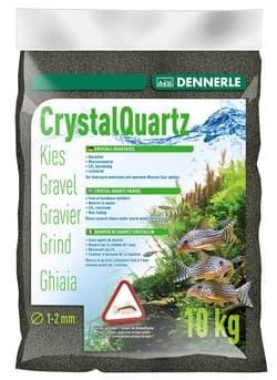 Грунт DENNERLE CRYSTAL QUARTZ, черный, 1-2 мм, 10 кг