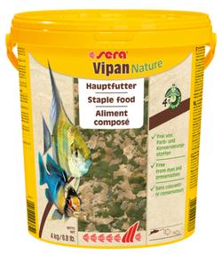 Сера Корм для рыб основной в хлопьях VIPAN NATURE 21000 мл 4 кг (крупные хлопья, ведро) (S32294)