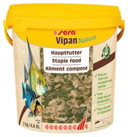 Сера Корм для рыб основной в хлопьях VIPAN NATURE 10000 мл 2 кг (крупные хлопья, ведро) (S32287)